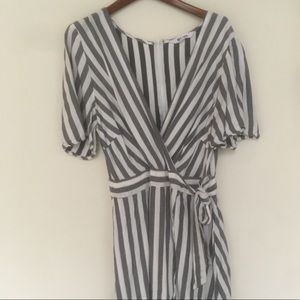 BB Dakota Striped Mini Spring Dress